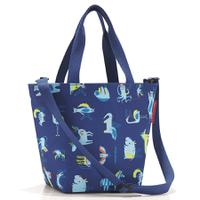 Сумка детская shopper xs abc friends blue, полиэстер, Reisenthel