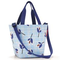 Сумка shopper xs leaves blue, полиэстер, Reisenthel